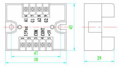 由于移相触发器的控制部分与输出触发端之间光电隔离,因而可以用
