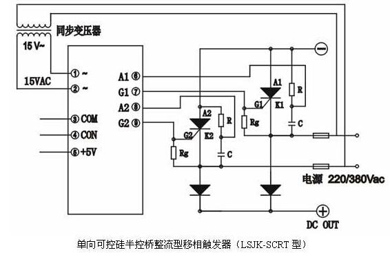 单向可控硅半控桥整流型移相触发器(lsjk-scrt型)